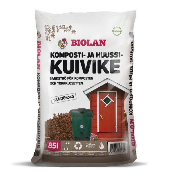 Biolan komposti- ja huussikuivike 85 L
